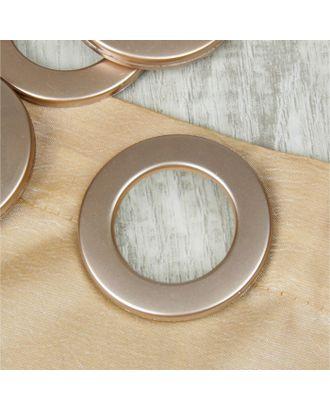 Люверсы для штор, d = 3,1/5,5 см, 10 шт, цвет коричневый арт. СМЛ-21156-2-СМЛ0002311346