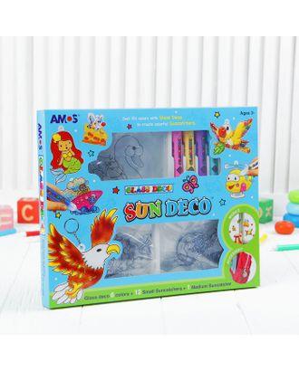 Набор витражных красок с витражами: 6 цветов по 10,5 мл, 13 витражей арт. СМЛ-4230-1-СМЛ2311502