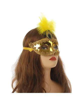 """Карнавальная маска """"Сияние"""", цвет золото арт. СМЛ-124897-1-СМЛ0002311753"""