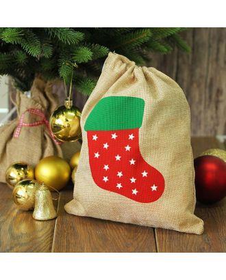 Карнавальный мешок «Новогодний носок» арт. СМЛ-47303-1-СМЛ0002321639
