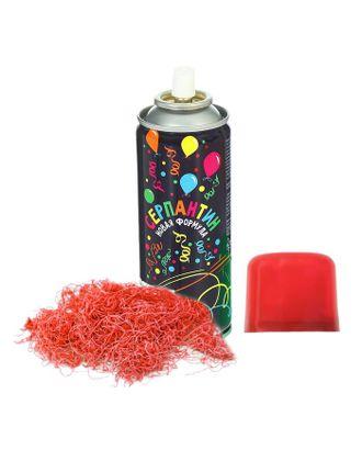 Спрей серпантин, 250 мл, цвет красный арт. СМЛ-120460-1-СМЛ0002341481