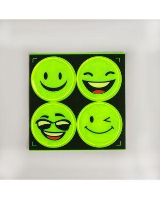 Светоотражающие наклейки «Смайлы» д.5 см арт. СМЛ-4413-1-СМЛ2348494
