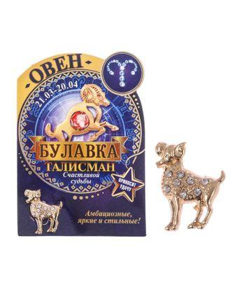 "Брошь гороскоп ""Знаки зодиака"" лев, 3 х 2,5 см арт. СМЛ-21090-11-СМЛ2351482"