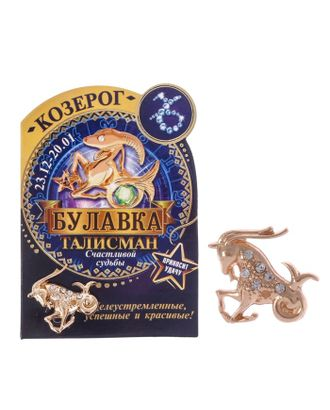 "Брошь гороскоп ""Знаки зодиака"" лев, 3 х 2,5 см арт. СМЛ-21090-8-СМЛ2351530"