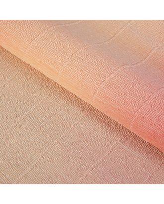 "Бумага гофрированная, ""Персиково-розовый"" 17А/7, переход цвета, 0,5 х 2,5 м арт. СМЛ-33608-1-СМЛ2355762"