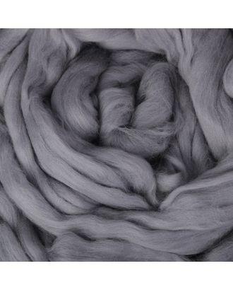 Гребенная лента 100% тонкая мериносовая шерсть 100гр (1575, стальной) арт. СМЛ-29428-4-СМЛ2372671