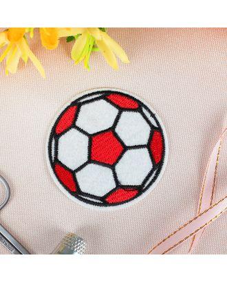 Термоаппликация «Футбольный мячик» д.6,5 см арт. СМЛ-4585-1-СМЛ2395461