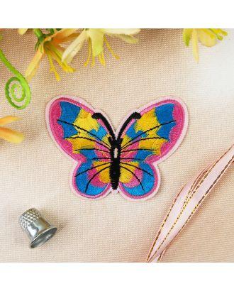 Термоаппликация «Бабочка» р.6х7,5 см арт. СМЛ-4590-1-СМЛ2395495