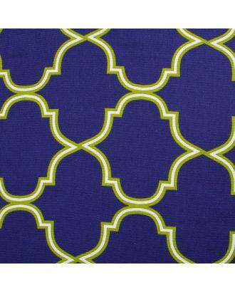 """Скатерть """"Доляна"""" Марокко Синий 145х150 см, 100% хлопок, рогожка, 162 г/м2 арт. СМЛ-19904-1-СМЛ2402861"""