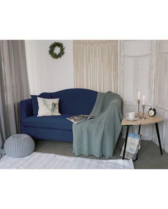 Чехол для мягкой мебели Collorista,2-х местный диван,наволочка 40*40 см в ПОДАРОК,тёмн.синий 24809 арт. СМЛ-19832-1-СМЛ2410068