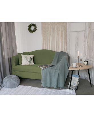 Чехол для мягкой мебели Collorista,3-х местный диван,наволочка 40*40 см в ПОДАРОК,оливковый 248099 арт. СМЛ-19829-1-СМЛ2410076