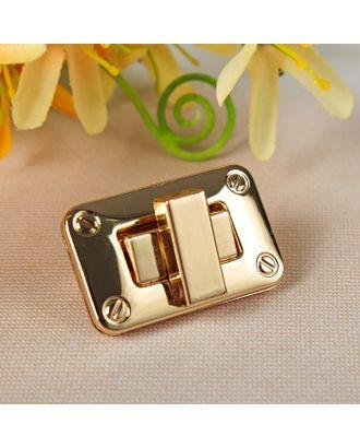 Застёжка для сумки, 4 × 2,5 см, цвет золотой арт. СМЛ-20992-1-СМЛ2455352