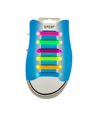 Резиновые шнурки, набор 6 шт., цвета МИКС арт. СМЛ-100610-1-СМЛ0002457860