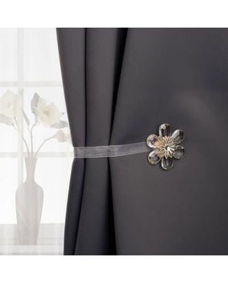 Подхват для штор «Цветок нежный», 5,5 × 5,5 см, цвет белый арт. СМЛ-28791-1-СМЛ2475978