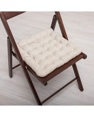 БИО-подушка на стул 40*40 лузга гречихи, лен арт. СМЛ-27650-1-СМЛ2481307