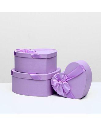 """Набор коробок 3 в 1 """"Сердце"""", розовый, 31 х 29 х 13 - 23 х 20 х 10 см арт. СМЛ-117649-4-СМЛ0002489521"""