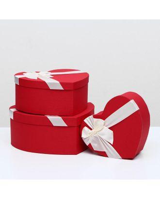 """Набор коробок 3 в 1 """"Сердце"""", розовый, 31 х 29 х 13 - 23 х 20 х 10 см арт. СМЛ-117649-3-СМЛ0002489524"""