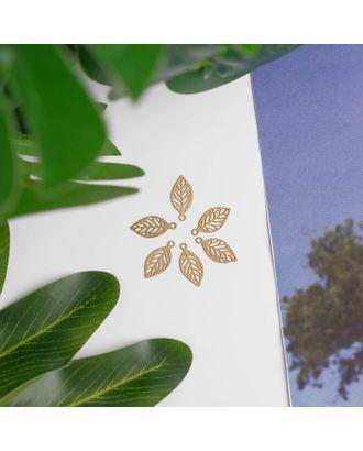 "Декор для творчества металл ""Листик"" золото 1,2х0,6 см арт. СМЛ-5192-1-СМЛ2541170"