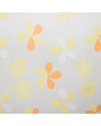 """Тюль """"Этель"""" Цветы лета (цвет оранжевый) без утяжелителя, ширина 250 см, высота 270 см арт. СМЛ-119696-2-СМЛ0002594451"""