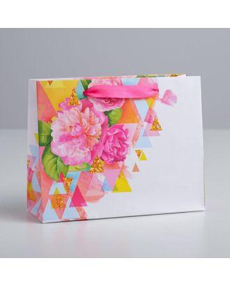 Пакет ламинированный горизонтальный «Счастья!», 22 × 17.5 × 8 см арт. СМЛ-120538-1-СМЛ0002640194