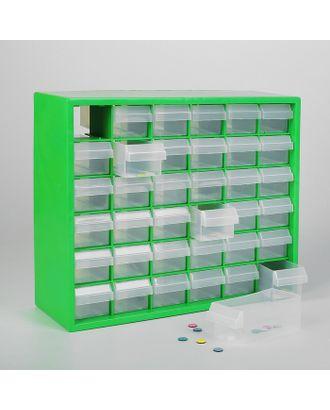 Бокс для хранения мелочей с выдвигающимися ячейками, 40х33 см, (1 ячейка 12х5,5 см), цв.зеленый арт. СМЛ-21448-1-СМЛ2673623