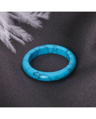 """Кольцо гладкое """"Бирюза"""" 6 мм арт. СМЛ-117632-1-СМЛ0002719680"""
