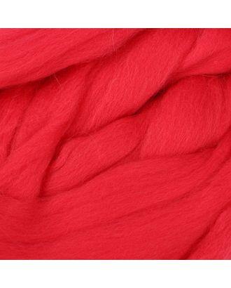 Шерсть для валяния полутонкая, красный арт. СМЛ-20366-7-СМЛ2721401