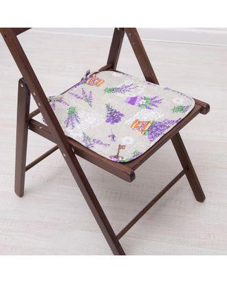 Подушка на стул с завязками «Лаванда», 35х38 см, бязь 125г/м, хл100% арт. СМЛ-5818-1-СМЛ2750940
