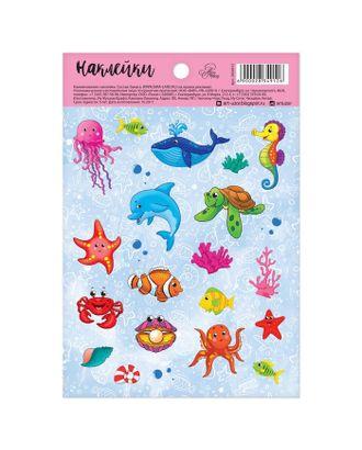 """Наклейки бумажные """"Морской мир"""", 11 х 16 см арт. СМЛ-5872-1-СМЛ2756378"""
