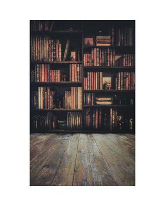 """Фотофон винил """"Библиотека"""" стена+пол 80х125 см арт. СМЛ-114016-1-СМЛ0002778336"""