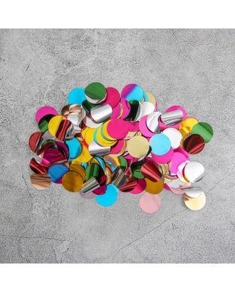 """Конфетти """"Круг"""" 1,5 см, фольга, цвет МИКС, 100г арт. СМЛ-120642-1-СМЛ0002790873"""