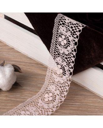 Кружево капроновое, 35 мм × 10 ± 1 м, цвет сиреневый арт. СМЛ-40130-3-СМЛ0002795932