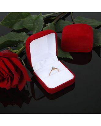 """Футляр под кольцо """"Классический"""", 5*5,5*3, цвет красный, вставка белая арт. СМЛ-6425-1-СМЛ0285574"""