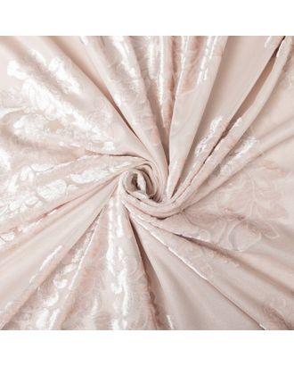 Штора тюлевая сетка с бархатом Этель «Ренессанс», 170 × 265 см, цвет белое золото, п/э 100 % арт. СМЛ-124850-1-СМЛ0002902353