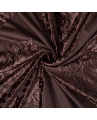 Штора тюлевая сетка с бархатом Этель 240х265 см Ренессанс Шоколадный пудинг арт. СМЛ-124851-1-СМЛ0002902360