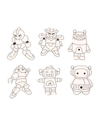 """Витражи-мини """"Роботы"""", 6 шт арт. СМЛ-35692-1-СМЛ0002917104"""