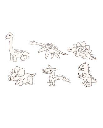 """Витражи-мини """"Динозавры"""", 6 шт арт. СМЛ-35693-1-СМЛ0002917105"""