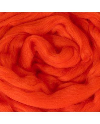 Гребенная лента 100% шерсть австралийский меринос 50гр (0493, ярко-оранжевый) арт. СМЛ-117696-1-СМЛ0002935394