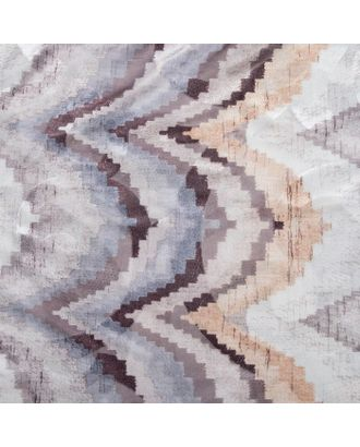 """Штора тюлевая сетка с бархатом """"Этель"""" Памир 170х250 см, коричневый,100% п/э арт. СМЛ-20963-1-СМЛ2979598"""