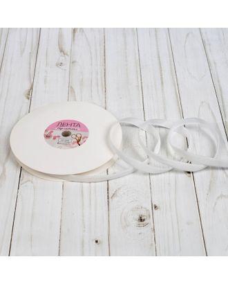 Лента бархатная ш.1см, №01, цвет белый арт. СМЛ-21314-1-СМЛ2997761