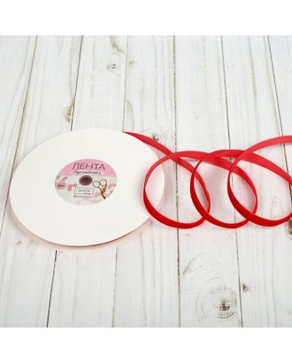 Лента бархатная ш.1см, №40, цвет красный арт. СМЛ-21308-1-СМЛ2997783