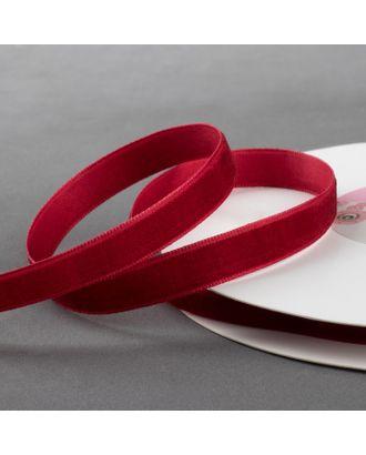 Лента бархатная ш.1,5см, №43, цвет бордовый арт. СМЛ-21306-2-СМЛ2997790