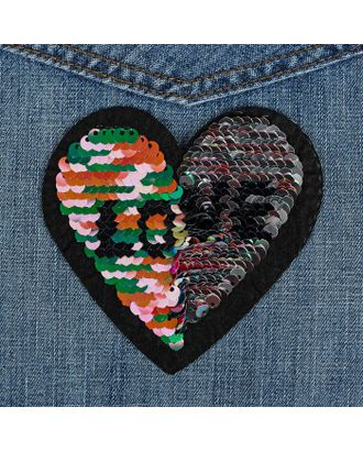 Термоаппликация «Сердце» р.8,7х9 см арт. СМЛ-7156-1-СМЛ3002797