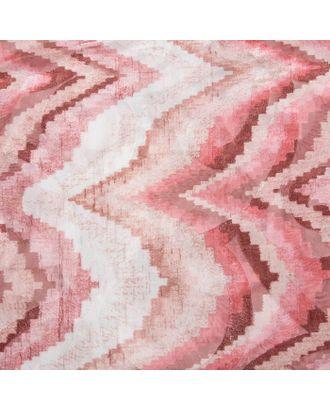 """Штора тюлевая сетка с бархатом """"Этель"""" Памир 170х250 см, розовый,100% п/э арт. СМЛ-20961-1-СМЛ3003383"""