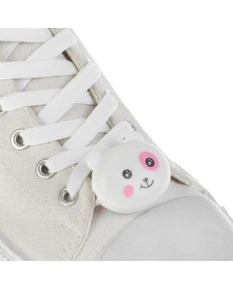 Шнурки «Мордочка», световые, 2 шт., длина шнурка 120 см, цвет оранжевый арт. СМЛ-100130-2-СМЛ0003018379