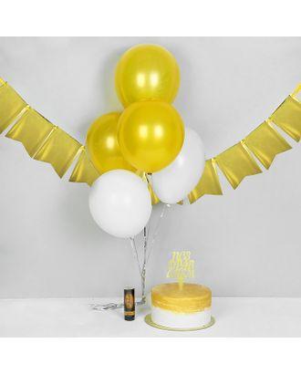 Хлопушка пружинная «Поздравляем!», 11 см, топпер, воздушные шары, 5 шт. арт. СМЛ-56091-1-СМЛ0003028447