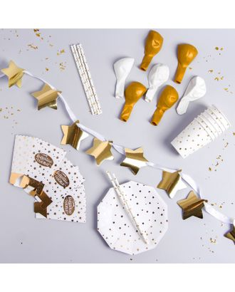 Набор для украшения праздника «Золотые звёзды» арт. СМЛ-57453-1-СМЛ0003028574