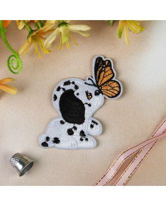 Термоаппликация «Собака с бабочкой» р.7х8,5 см арт. СМЛ-7223-1-СМЛ3035398