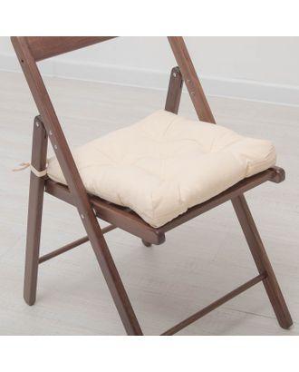 Набор подушек для стула 35х35 см 2шт, цв бежевый, бязь, холлофайбер арт. СМЛ-7354-1-СМЛ3121934