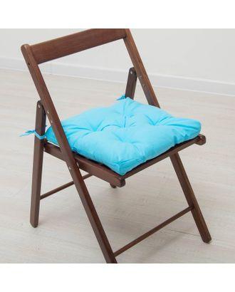 Набор подушек для стула 35х35 см 2шт, цв голубой, бязь, холлофайбер арт. СМЛ-27721-1-СМЛ3121935